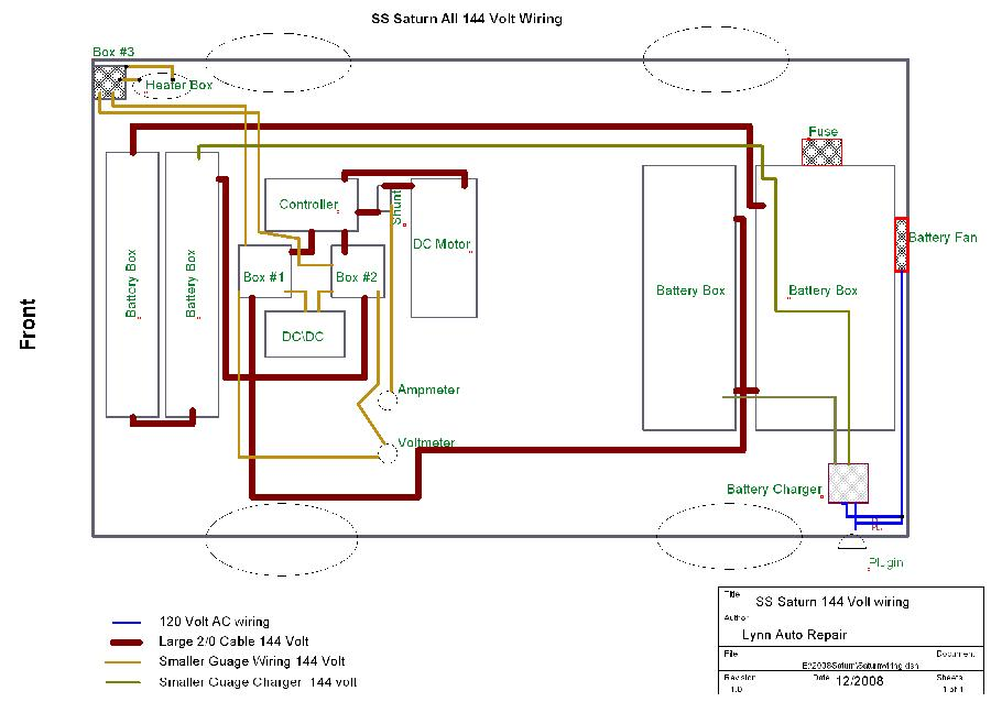 Electric Saturn 144 Volt Cable Wiring Diagram