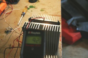 ThermoElectric Device With Cooling Fan Hot Side: