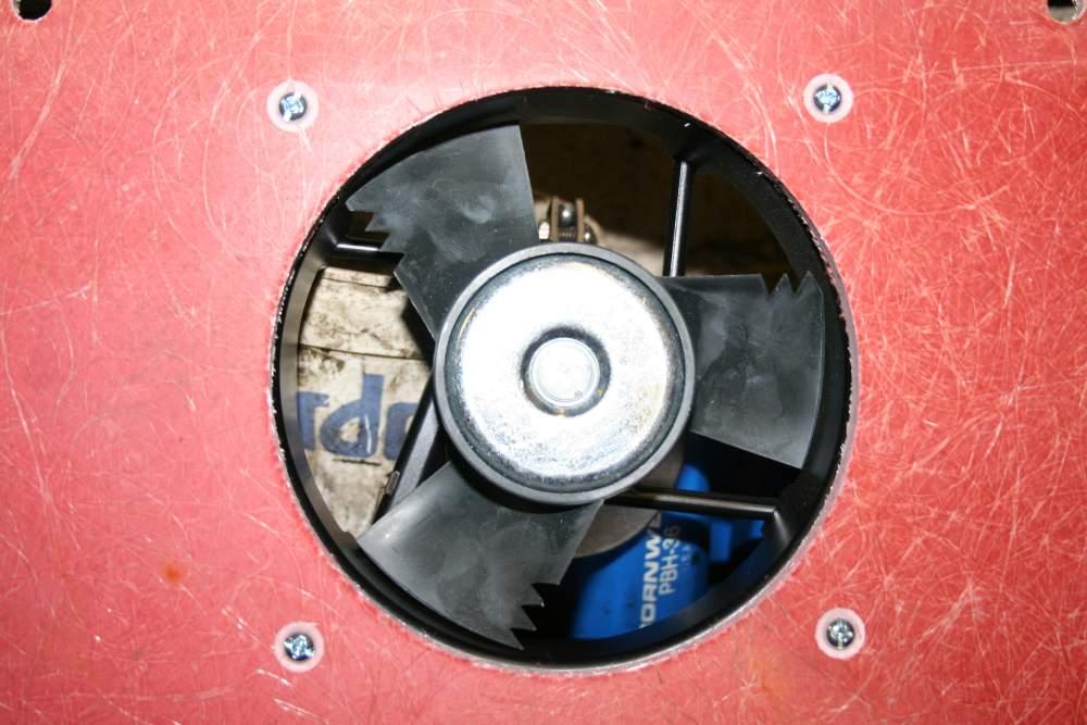 Control Board Cooling Fan installed