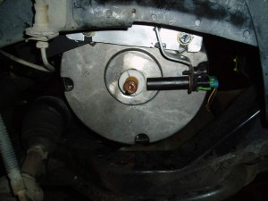 Original Crank Sensor Installed on electric motor