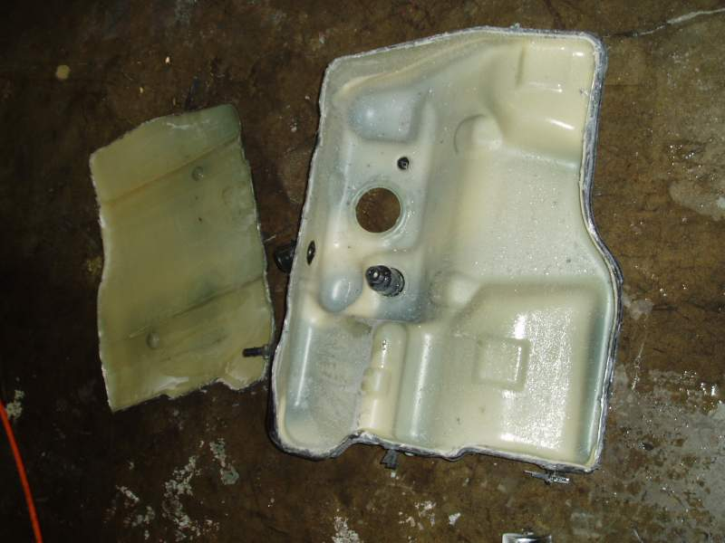 Fuel Tank in Two Pieces