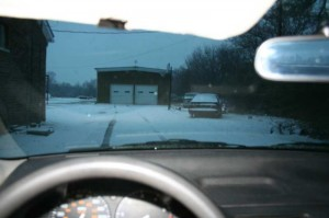 Driving the EV in the January Snow