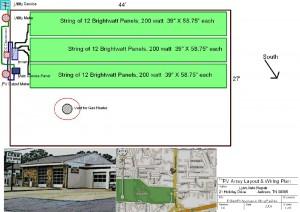 PV Array Layout & Wiring Plan