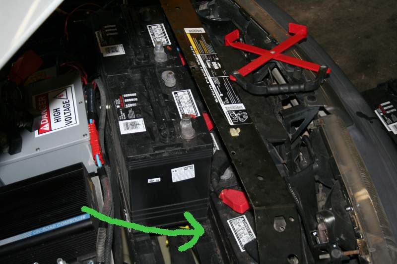 Removing Upper Battery To Service Lower Ones