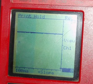 Graphing meter display of tachometer signal of static motor on a Snap-On Vantage.