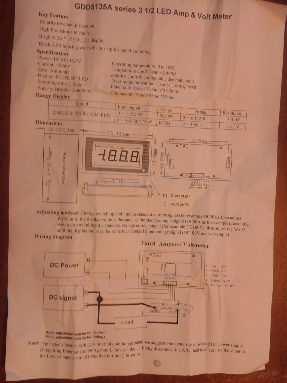 Digital Voltmeter Stimulated Saturn Volt Amp Meter Wiring Diagram For Led Gdd5135a